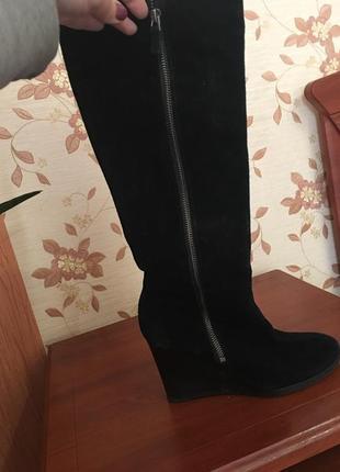 Замшеві чоботи franco sarto