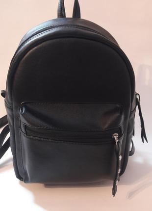 Молодёжный женский рюкзак чёрный для учебы, города, прогулок