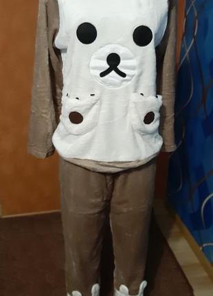 Мягкая пижама с карманами, р.46 полномерка, новая с биркой
