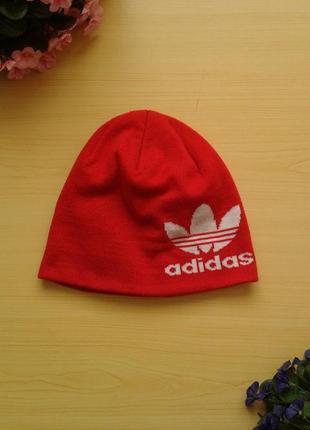 Теплая шапка adidas оригинал на ог 54-58 см