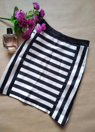 Атласная юбка в полоску от naf naf