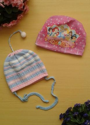 Комплект демисезонных шапок, ог 48-52 см