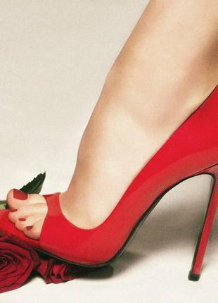 Красные лаковые туфли maison ernest paris