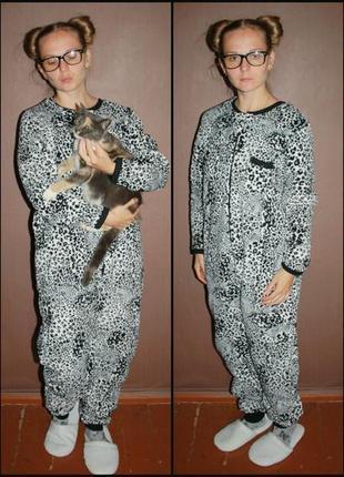 Теплое махровое кигуруми слип пижама love to lounge №6