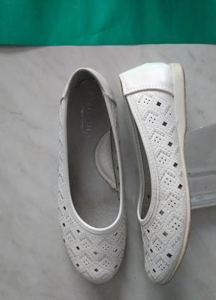 Белые летние балетки, 37 размер
