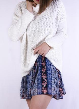 Легкая шифоновая юбка с узором, двухслойная мини atmosphere