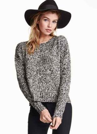 Укороченный серый свитер тонкой вязки brave soul