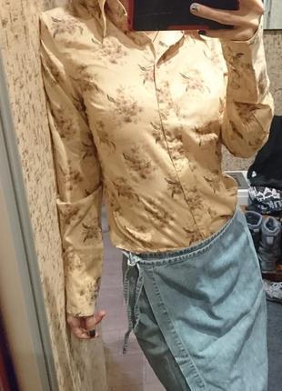 Стильная рубашка / блуза в цветочный принт h&m