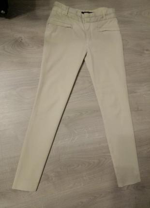 Бежевые укороченные брюки zara, оригинал
