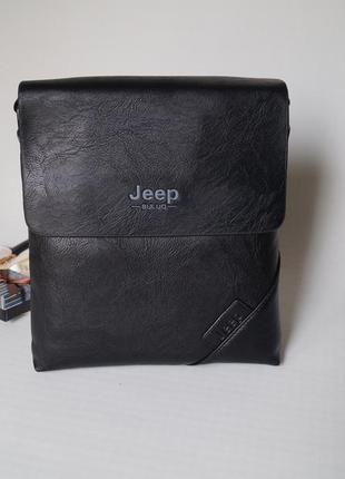 Стильная мужская сумка jeep черный