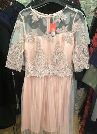 Платье нарядное женское кружевное