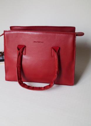 Стильная женская сумка клатч красный