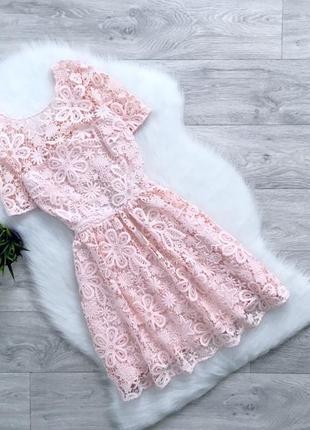 Шикарное кружевное платье с красивой спинкой от asos