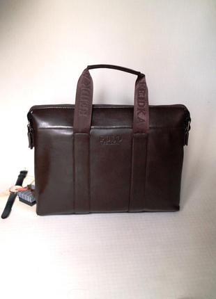 Стильный кожаный портфель коричневый поло polo