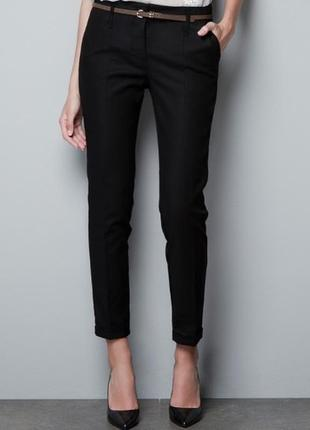 Черные классические брюки от zara (зара)!