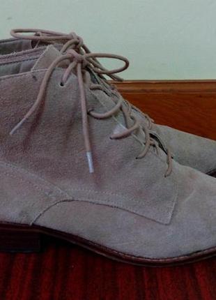 Демисезонные ботинки  next, замша, размер 39