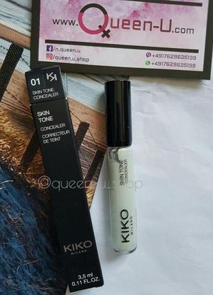 Kiko milano skin tone concealer, корректирующий корректор! оригинал! италия!