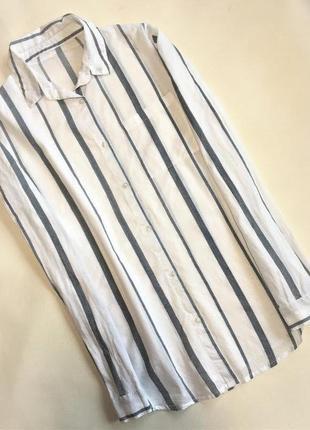 Хлопковая рубашка в полоску рубашка с карманом рубашка хлопок.