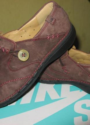 Туфли мокасины кожа нубук clarks оригинал новые размер 38 по стельке 24.5 см