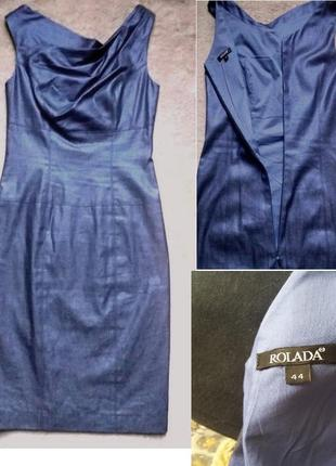 Платье-футляр миди.