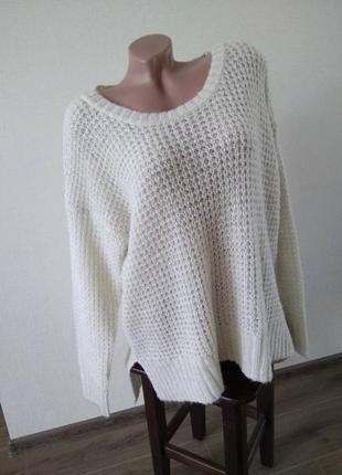 Свитер кофта пуловер вязаный джемпер размер 18