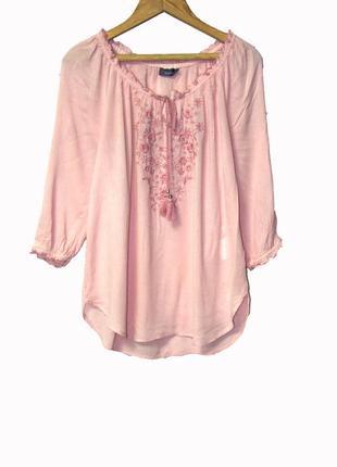 Шикарная розовая блуза  uk 16
