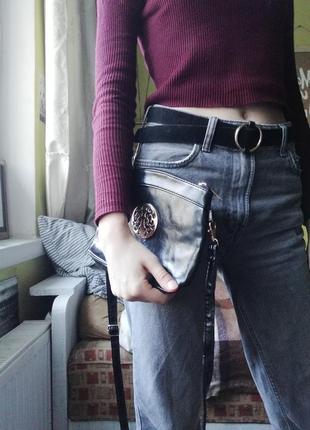 Сдержаная стильная клатч сумка женская