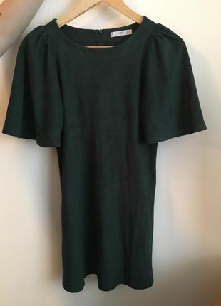 Замшевое платье mango