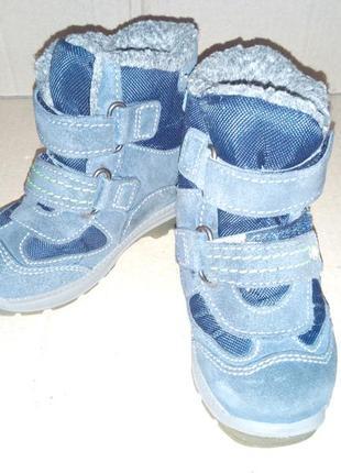 Зимові шкіряні ботиночки