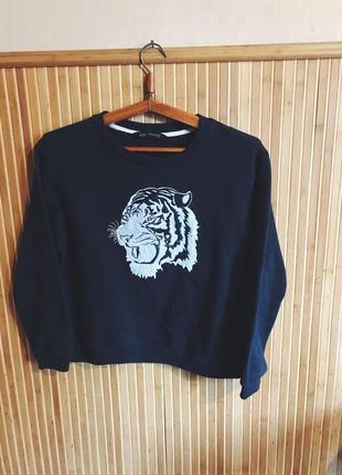 Свитшот кофта свитер с флисом zara