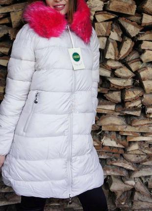 -25% на все! тёплая дутая куртка на синтепоне, пуховик с мехом, парка, пальто зимнее