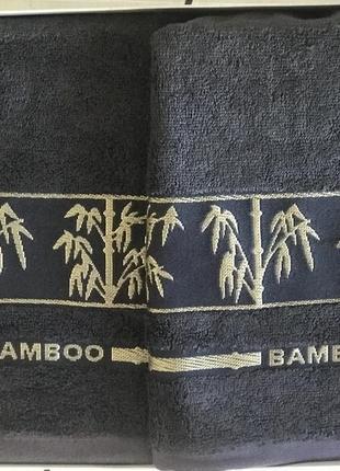 Набор бамбуковых полотенец баня +лицо deco home серого цвета