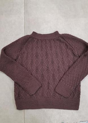 Вязка свитер косы