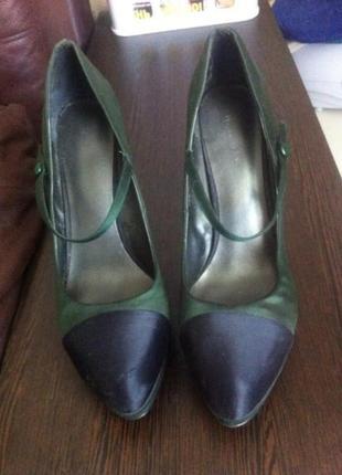Атласные туфли nine west