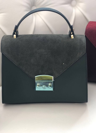 Роскошная сумочка из натуральной кожи и замша