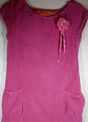 Вельветовый сарафан платье для девочки