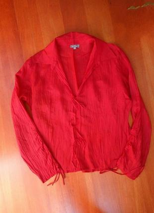 Рубашка / блуза натуральный фактурный  шелк m/l