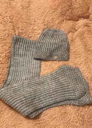 Шерстяной набор шапка шарфик 🧣
