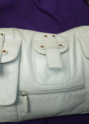 Стильная большая сумка натуральная кожа tommy & kate
