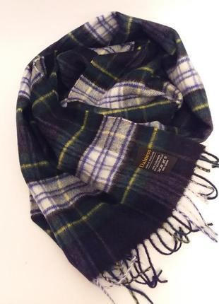 Шотландия! теплый мягкий шикарный брендовый шарф в клетку dalness
