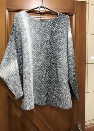 Шерстяная тёплая кофта свободного кроя кофта свитер