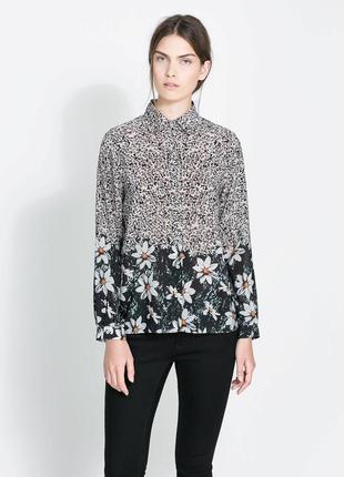 "Блуза из плотного  шифона ""zara basic"""
