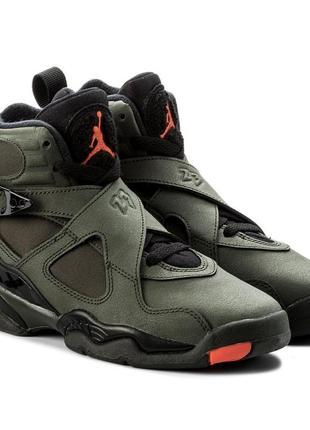Кожаные зимние ботинки nike air jordan 8 retro