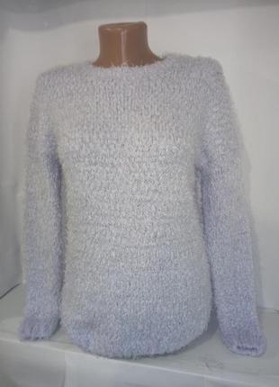 Голубой мягкий пушистый свитер травка atmoshere uk 6 / 34 / xxs