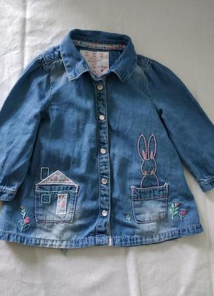 Кофточка джинсовая для девочки