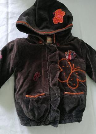 Флисовая теплая курточка детская на девочку