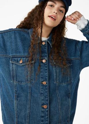 Котоновая куртка джинсовая унисекс oversize weekday