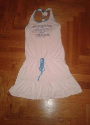 Снизила цену!белое ,летнее платье , паетки, камни