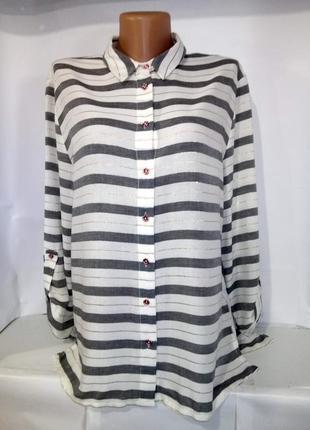Красивая ультрамодная рубашка блуза f&f uk 12 / 40 / m