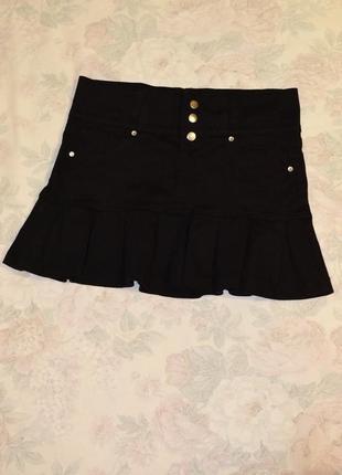 Классная джинсовая мини юбка, размер 34